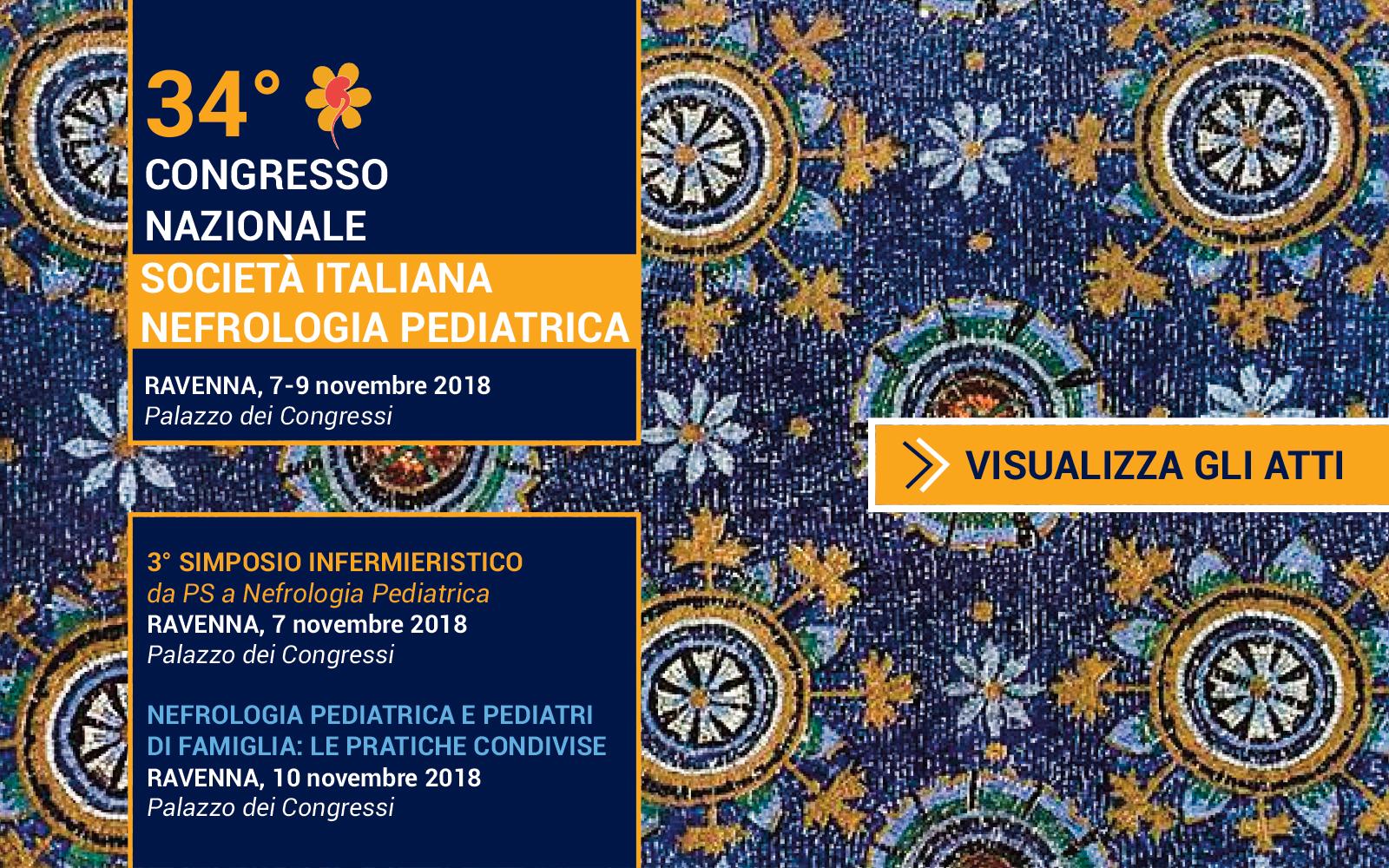 34° Congresso Nazionale Società Italiana di Nefrologia Pediatrica