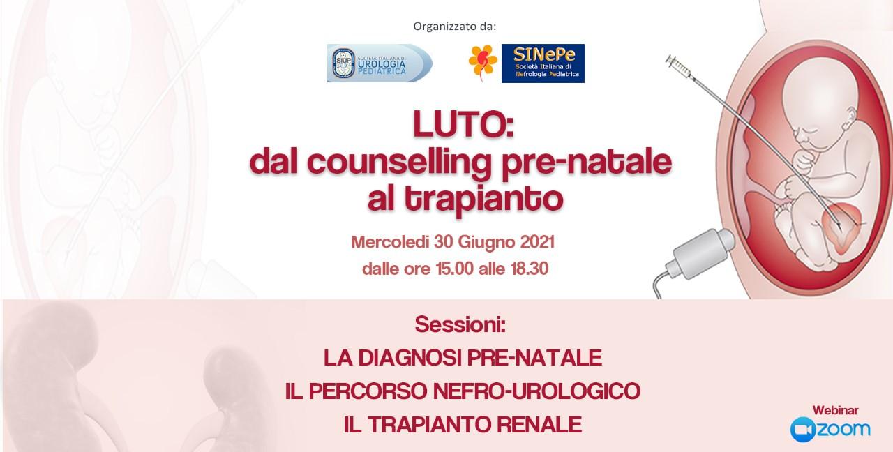 """WEBINAR SIUP- SINePe  """"LUTO: dal counseling pre-natale al trapianto – 30 giugno 2021"""