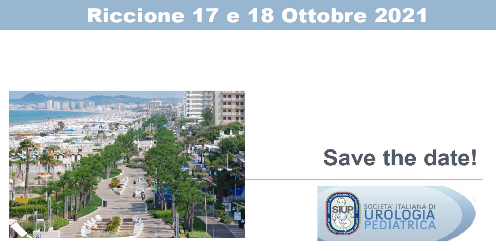 Save the date: Riccione 17 e 18 ottobre 2021